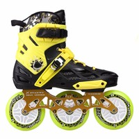 Professional Inline Skates Roller Skating Shoes 4*80 Or 3*110mm Changeable Slalom Speed Patines Free Skating Racing Skates