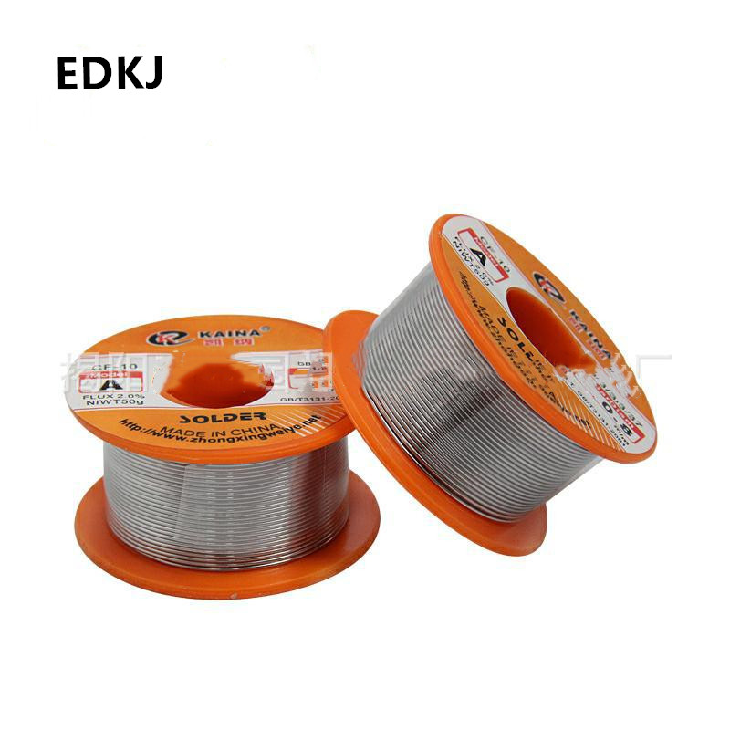 0.5/0.6/0.8/1/1.2/1.5/2mm 50g/100g/roll High-purity Tin Line Solder Ingest Flux Reel Welding Line Solder