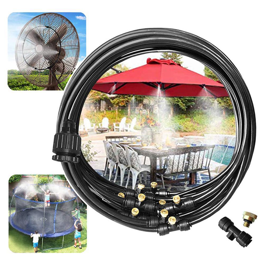 Kit de sistema de enfriamiento de nebulización al aire libre parágrafo invernadero jardín Pátio anillo de agua irrigación Senhor Líne