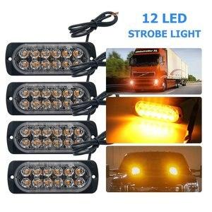 4PCS 12 LED Truck 24V Emergenc