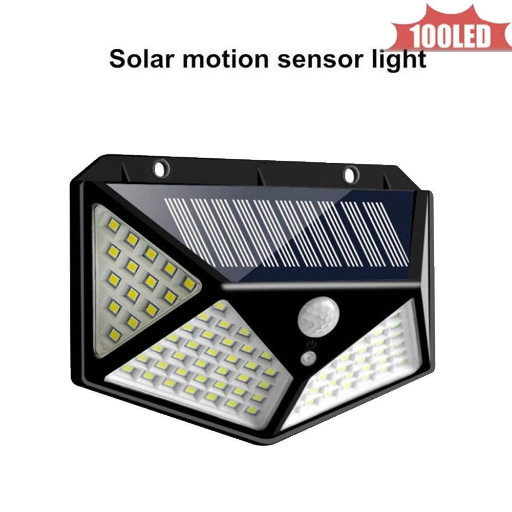 PIR Motion Sensor Wall Light 100 LED Solar Energy Street Light Outdoor Waterproof Yard Path Home Garden Solar Power Lamp 4 Sided