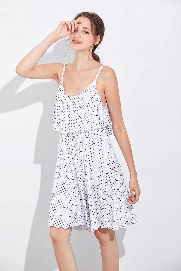 Gratis Verzending. zomer Mode Merk Vrouwen Bretels Rok, Merk Femme Katoen Jurken. zoete Plus Size Homewear. groothandel.