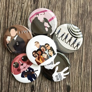 3pcs random Umbrella Academy Brooch Badges for Clothes Lapel Brooch Pins For Clothes Round Broche Schoolbag Fans Gift