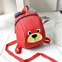 Idade 2-5 da criança mochila anti perdido crianças saco do bebê dos desenhos animados animais crianças mochilas saco de escola do jardim de infância para meninas e meninos 1