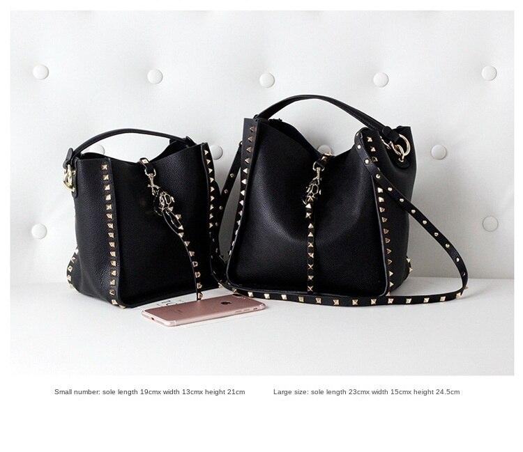 bolsas designer de luxo cravejado couro senhoras