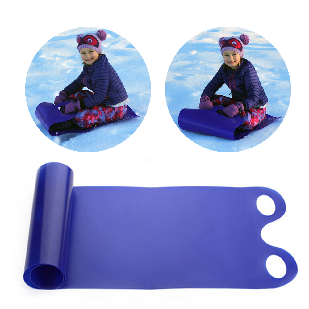 Kids Safety Skiing Snow Sled Snow Carpet Lawn Flying Carpet Winter Portable Folding Snowboard Roll Up Snow Sleds Kids Fun Gift