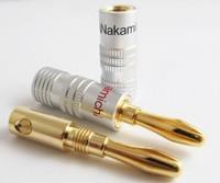 500pcs 24K Gold Nakamichi Speaker Screw banana plug Audio Jack connector