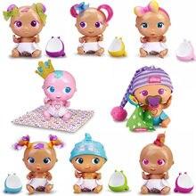 As barrigas boneca blinky rainha/sleepy guzzz/mini gostoso/kuki/pinky/muak/boo/brinquedo interativo divertido casa de jogo das crianças presente