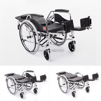 High back manual toilet for wheelchairs for the disabled and the elderly