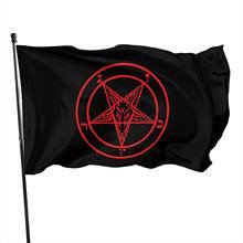 Roman Catholic Church knights Templar pentagram Baphomet flag of Satan 3x5 fts 90x150cm
