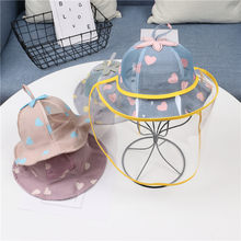 Baby Kids Cute Outdoor Safety Protective Hat Caps Clear Anti-droplet Anti-Saliva Splash-Proof Dust-Proof Full Face Cover(China)