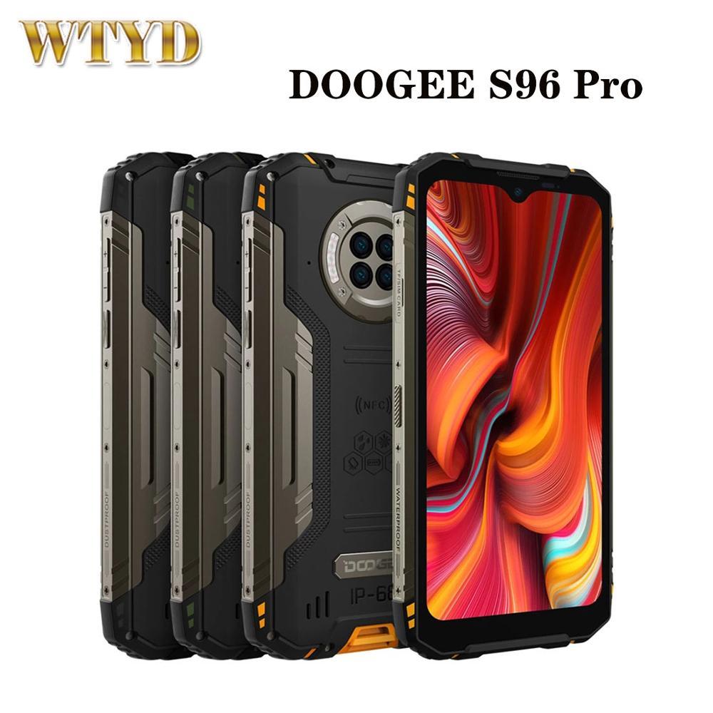 DOOGEE S96 Pro IP68 Водонепроницаемый глобальная версия смартфона 8 ГБ 128 48MP круглый Quad Камера 6350 мА/ч, Беспроводной заряжать телефон NFC