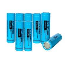 Bateria recarregável icr14500 da bateria do li íon de 8 pces pkcell 14500 bateria 3.7 v 800mah 3.7 volts aa para a lanterna led