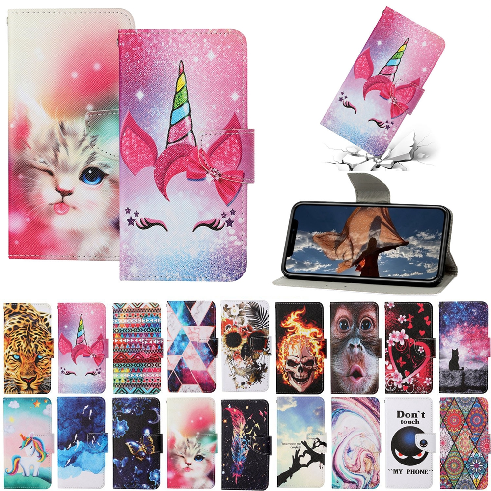 Magnetic Flip Cover on for Etui Samsung Galaxy A52 Kawaii Unicorn Cat Totem Wallet Leather Case for Funda Samsung A52 Case Women