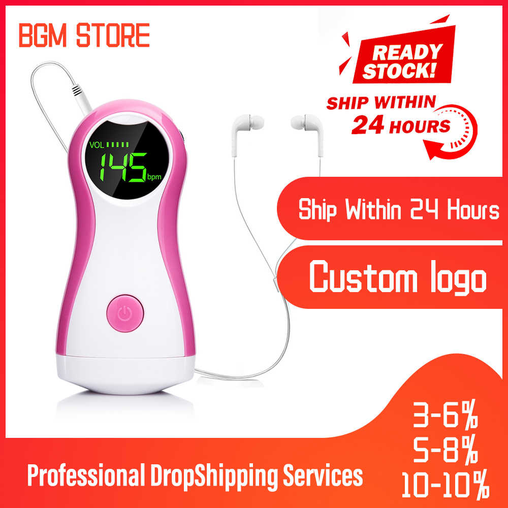 Yongrow DigitalPortable Fetal Doppler Bayi Detak Jantung Terbaik Janin Monitor CE Saku Prenatal Vaskular Mengalahkan Headset