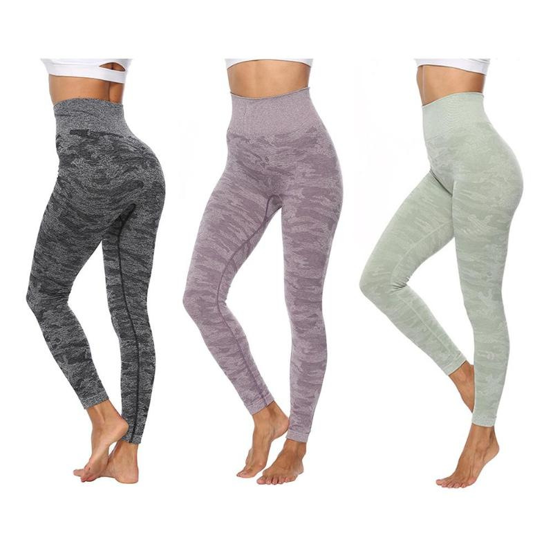 Women Leggings Camouflage Seamless Hip Lifting Sports Fitness Pencil Pants