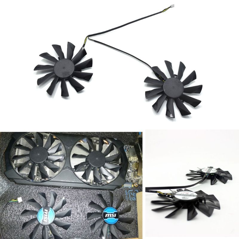 PLD10010B12HH 95mm GTX780Ti 780 750Ti 660 760 <font><b>Fan</b></font> 40mm 12V 0.40A 4Pin for MSI <font><b>R9</b></font> <font><b>270X</b></font> 280X 290 290X Cooling <font><b>Fan</b></font> image