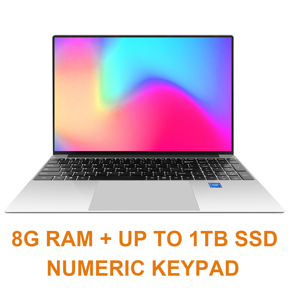 15.6 Inch 8G RAM 128G/256G/512G M.2 SSD Laptop Notebook Computer Intel J3160 QUAD CORE Windows 10 OS Ultrabook HDMI 5G WIFI