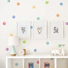 29 Teile/satz PVC Baby Wand Abziehbilder Farbige Punkte Kreative Aufkleber für Kinder Vinyl Kinderzimmer Dekoration