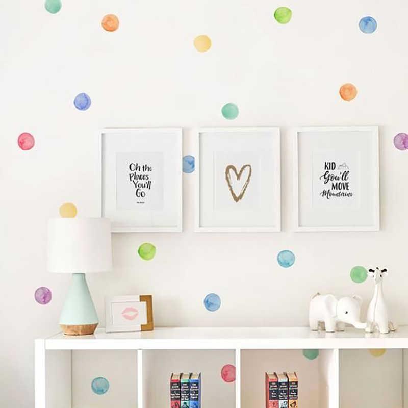 29 unids/set PVC pegatinas para pared, para bebé puntos de color pegatinas creativas para los niños de vinilo decoración de habitación infantil