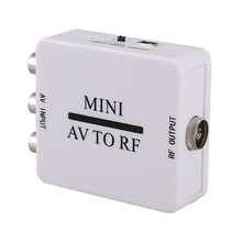 Mini Rca Cvsb Av Per Adattatore Rf 67.25Mhz 61.25Mhz Segnale Audio Video Tv Box Switcher Convertitore(China)
