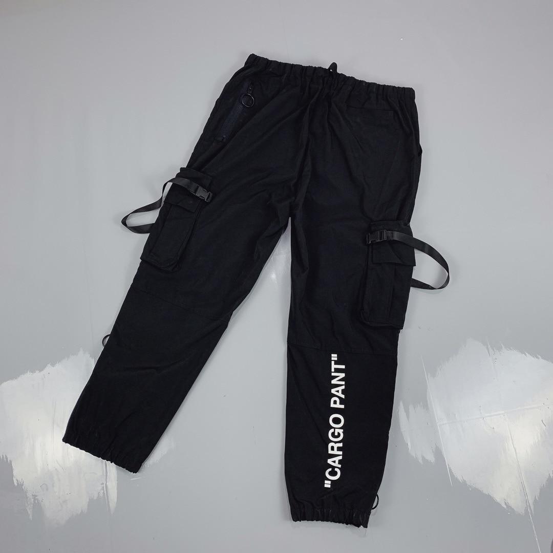 2019  White Cargo Pant Printed Women Men Pants Joggers Hiphop Streetwear Men Pants Sweatpants