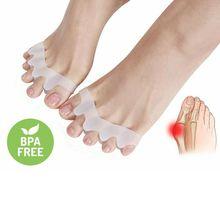 Силикон носок сепаратор коррекция деформация голени вальгус корректор ортопедический молоток сепаратор выпрямитель расширитель стопа уход инструмент 2 шт.
