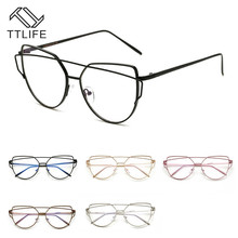 TTLIFE Couple Sunglasses Anti-radiation Eyeglasses Blue Light Filter Mobile Phone Computer Eyewear No Degree Clear Lens YJHH0311