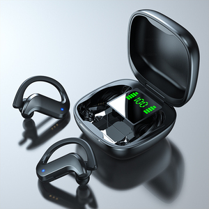 Беспроводные наушники Bluetooth 5,0, TWS 9D Hi-Fi стерео наушники с костной проводимостью, спортивные гарнитуры, гарнитура с крючком и микрофоном