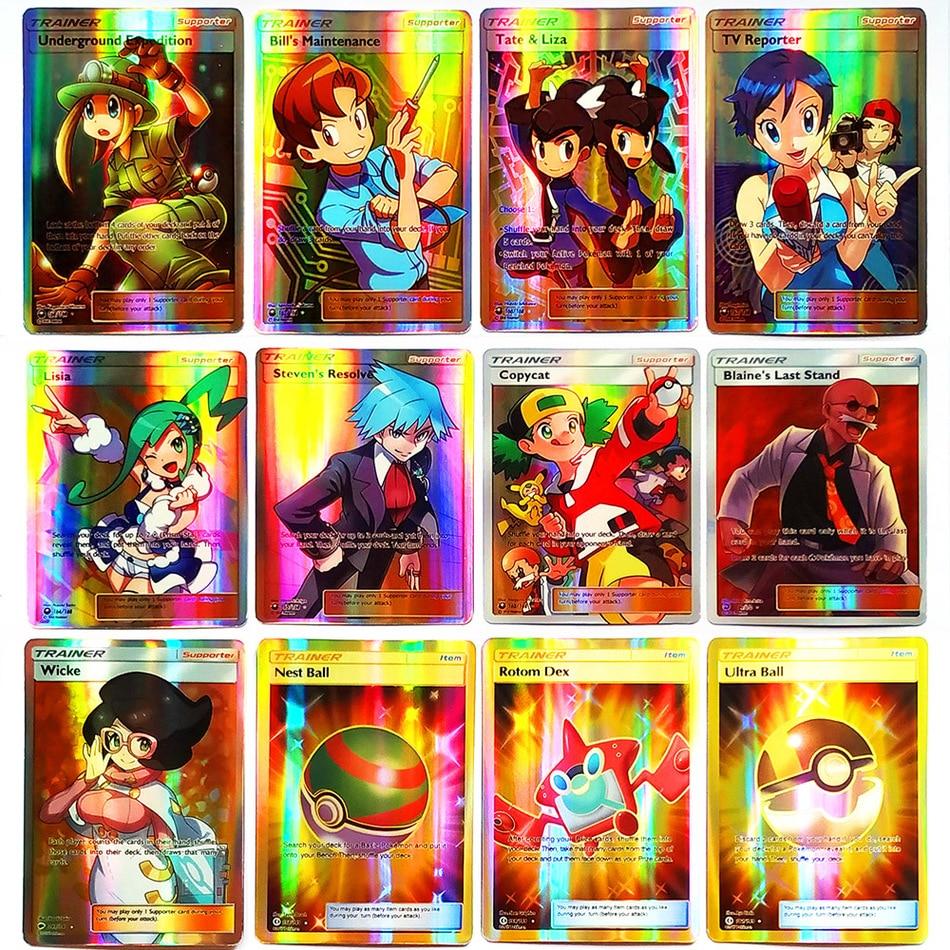 TAKARA TOMY Shining POKEMON Cards Collections MEGA GX EX Energy Trainer 100pcs 60pcs Toys Children Energy Battle Game Flash Card