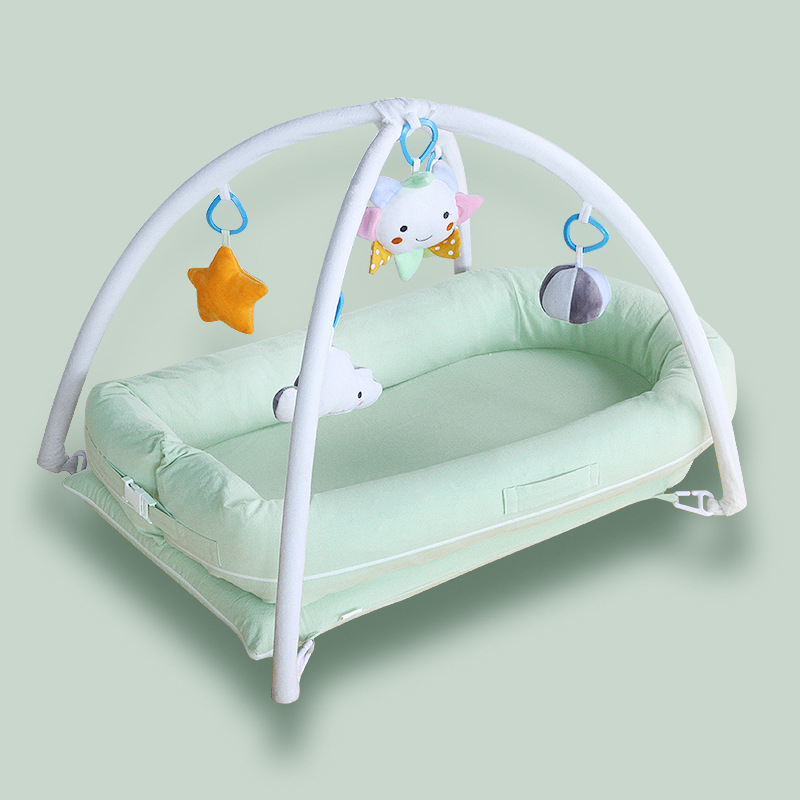Protable Newborn Baby Crib Sleeping Basket Baby Nest Washable Infant Cardle Bassinet  94cm Length With Toys 0-36month