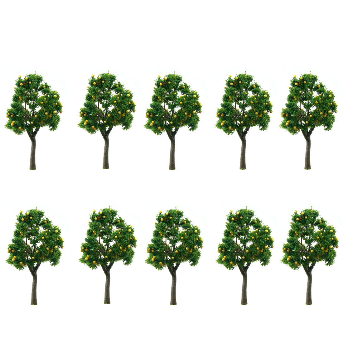 10Pcs 11cm Sand Table Model Trees Micro Landscape Farm Orchard Tree Mango Trees
