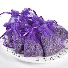 15 pçs lavanda scented saquinhos saco sacos de organza flor secada saquinho botões sacos aromaterapia sala de carro ar refrescante saquinho
