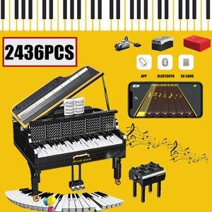 MOC APP управление Электрический играемый рояль Bluetooth динамик Fit Technic идеи игрушки строительные блоки кирпичи подарок для детей