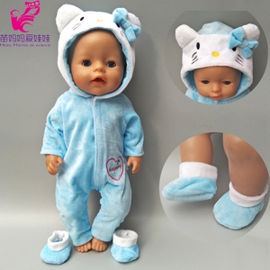 Зимняя Одежда для куклы, подходит для 17 дюймов, Детская кукла, котенок, комплект для 40 см, Reborn, Детская кукла, пальто, толстовка, костюм для игр...