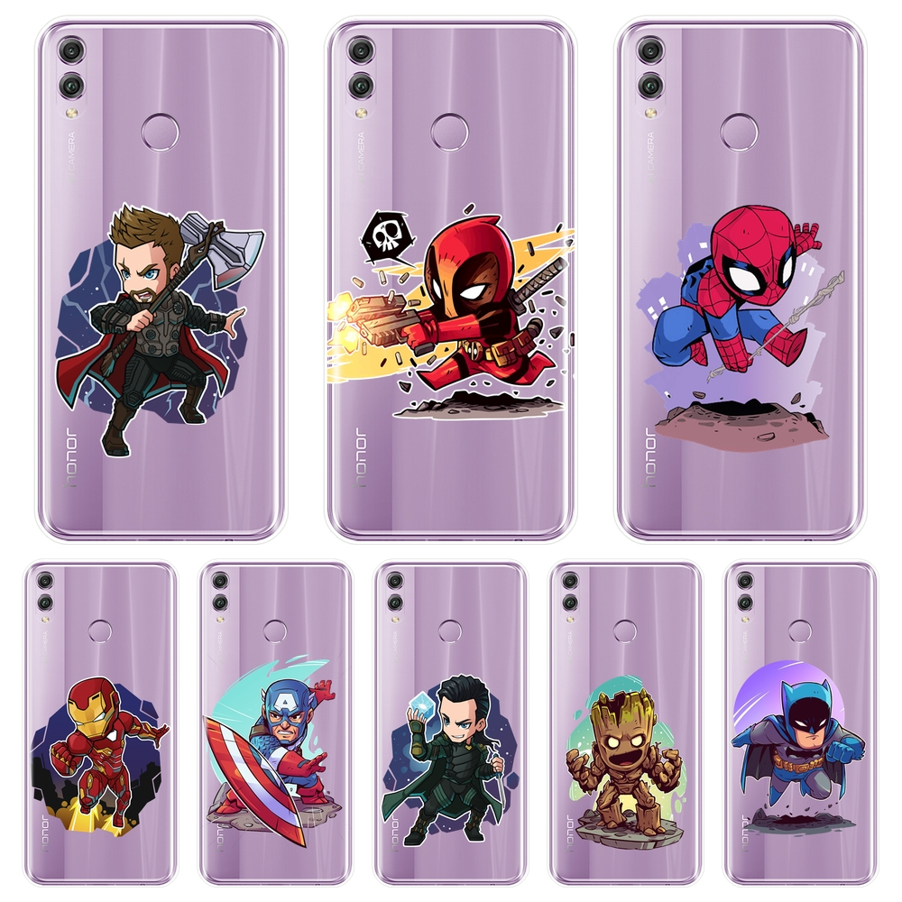 TPU Silicone <font><b>Phone</b></font> <font><b>Case</b></font> For Huawei <font><b>Honor</b></font> 10 <font><b>9</b></font> 8 8X MAX 7 7S 7X 7A 7C Pro <font><b>Marvel</b></font> Batman Back Cover For Huawei <font><b>Honor</b></font> 7 8 <font><b>9</b></font> 10 <font><b>Lite</b></font> image