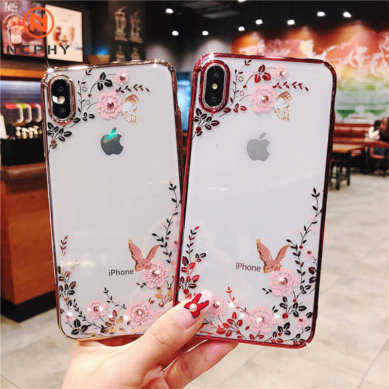 Luxe Glitter Case Voor Iphone 11 Pro Xs Max X Xr 7 8 Plus 5 6 S 5S 6 S Se 7Plus 8 Plus Back Cover Behuizing Mobiele Telefoon Clear Coque