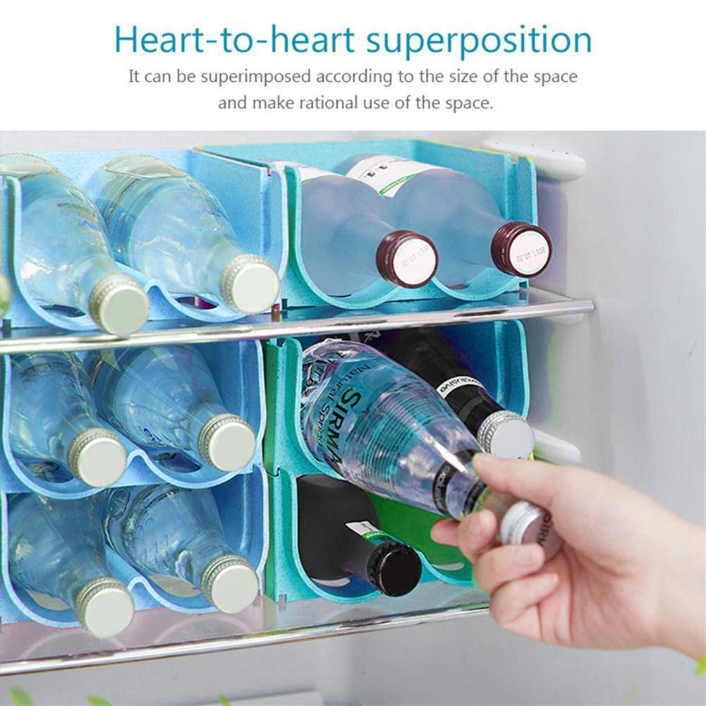 Refrigerator Drawer Beverage Storage Box Can Dispenser Cans Anti-fall Storage Rack Glass Beer Bottle Rack Drink Storage Holder