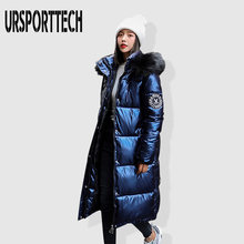 Faux Fur Hooded Winter Jacket Women Long Parka Thicken Warm Ladies Puffer Coat Women Warm Glossy Parkas Mujer Casaco Jacket(China)
