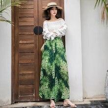 Женские Летние повседневные брюки в стиле бохо с тропическим