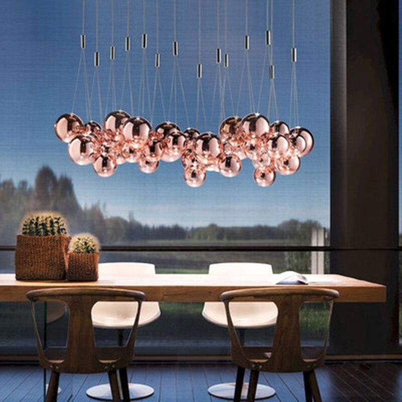 Подвесной светильник из скандинавского стекла с пузырьками, светильник s, подвесной светильник для столовой, гостиной, спальни, лофт, домашний декор, подвесной светильник