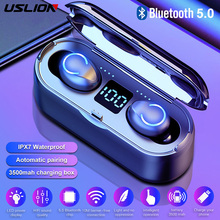 TWS Bluetooth 5.0 Wireless Earphones 3500mAH Charging Box Wireless Headphones With Microphone Sport