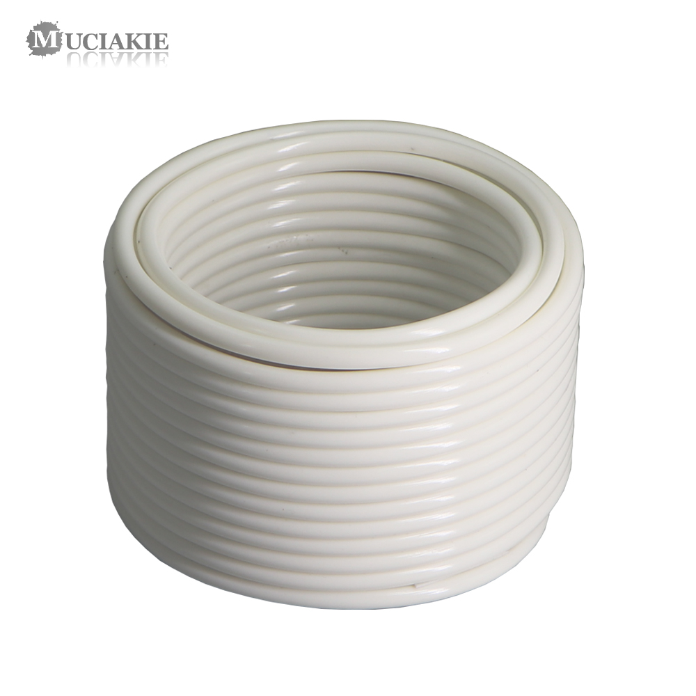 MUCIAKIE 10/20/30/50/60M 4/7mm Cream White New PVC Hose 1/4 inch Micro Tubing Pipe Garden Watering Irrigation Main Branch Line