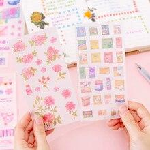 20パック/ロット小さな新鮮な花シリーズ装飾日記アルバムラベルdiyスクラップブッキングステッカー文房具