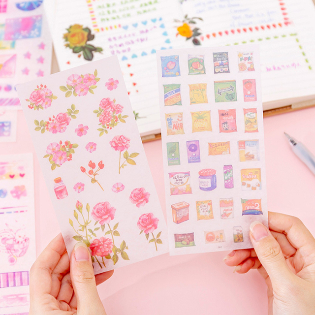 20pack/lot Small fresh Flowers series Decorative Sticker for Diary Album Label DIY Scrapbooking Stickers Stationery