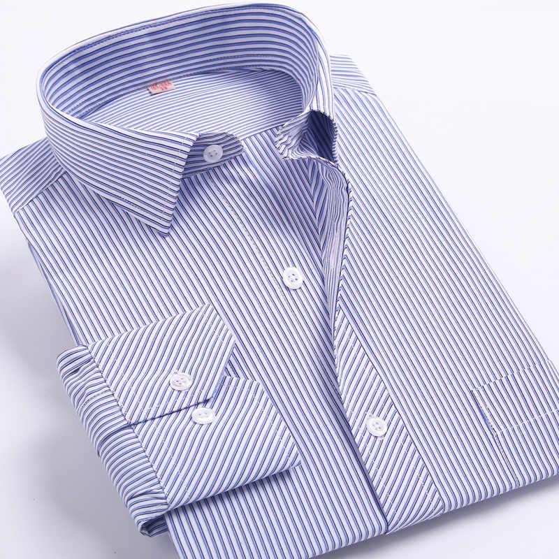 BOLUBAO Marque Hommes Manches Longues Chemises Pour Hommes Mince Chemise D'affaires décontracté Chemises À Rayures Robe De Mariée Mâle Chemise de Smoking