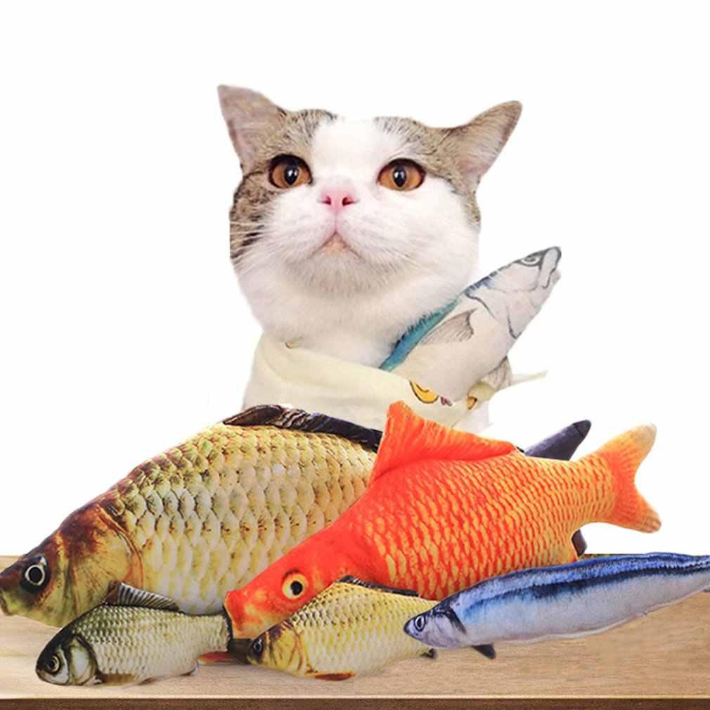 20cm Catnip Catmint חתול לטובת סימולציה דגי חתול צעצועי דגי צורת גרוד קצר בפלאש עבור אספקת מוצר לחיות מחמד