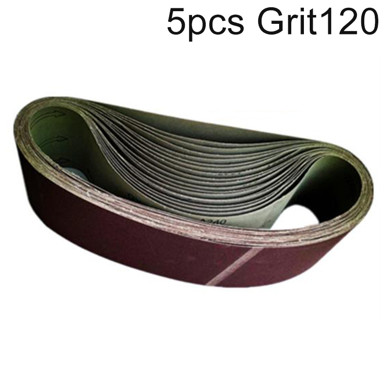 5pcs 100x915mm 4*36 Inch Alumina Abrasive Sanding Belts Polishing 40-320 Grits