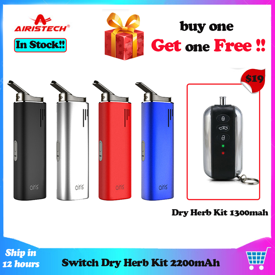 Buy one Get one Airistech Switch Starter Kits Dry Herb Vaporizer 2200mAh 3 in 1 Concentrate