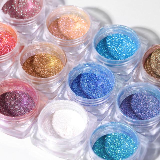 6 Box Glitter Nail Dipping Nail Powder